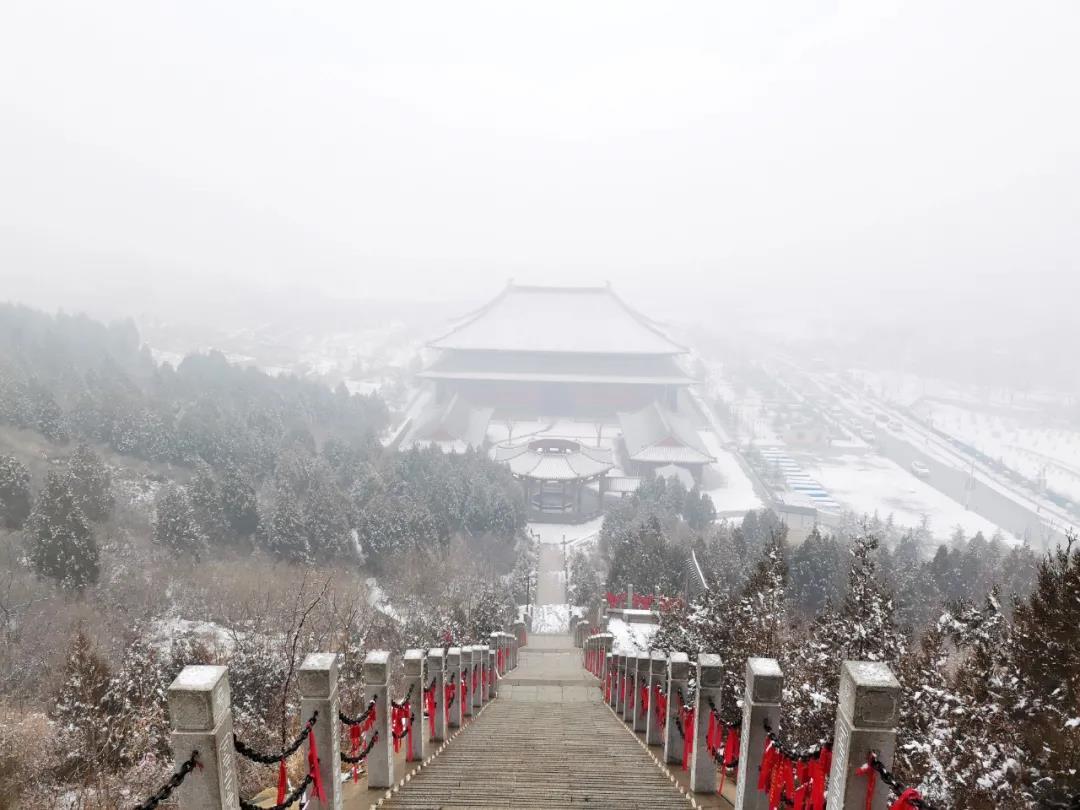 庆都山雪景图片  第17张