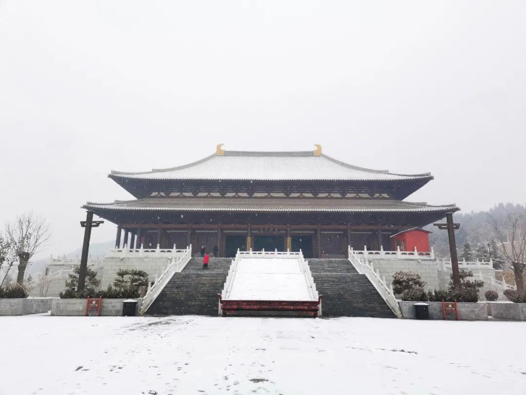 庆都山雪景图片  第5张