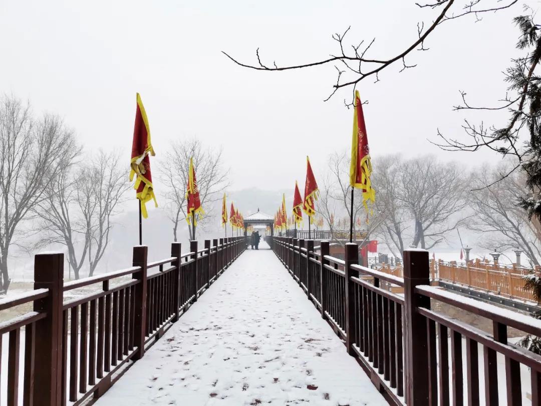 庆都山雪景图片  第19张