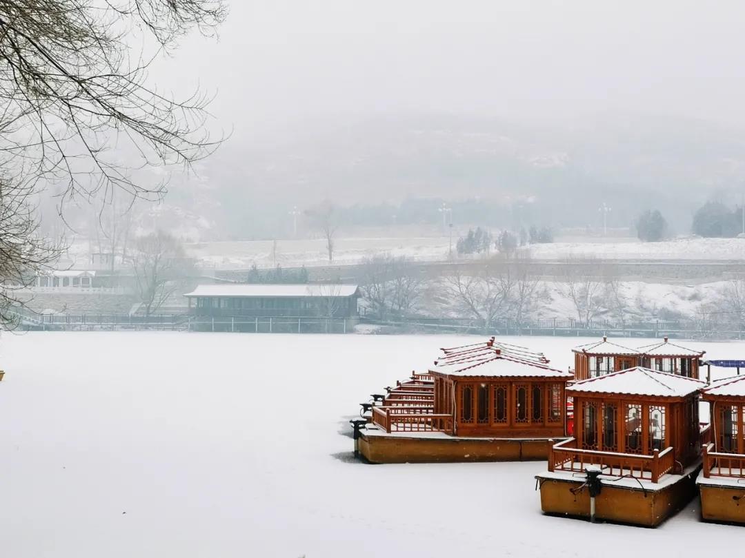 庆都山雪景图片  第12张
