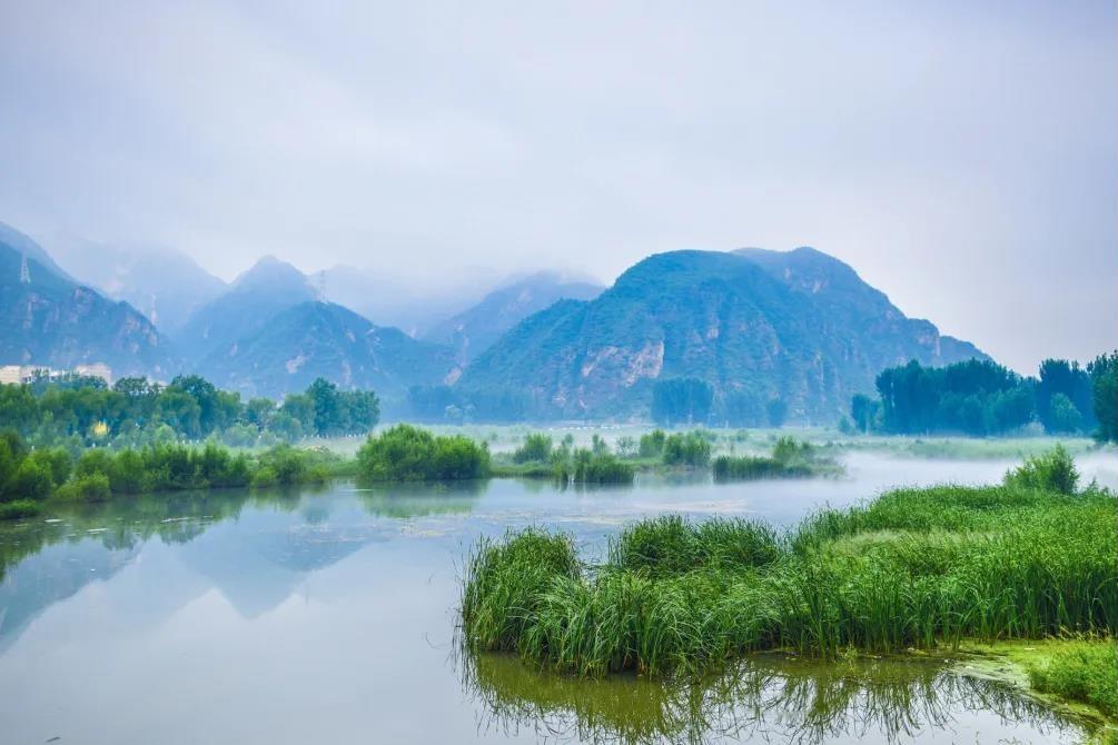 青山缭绕升云雾,美景只在野三坡!  第1张