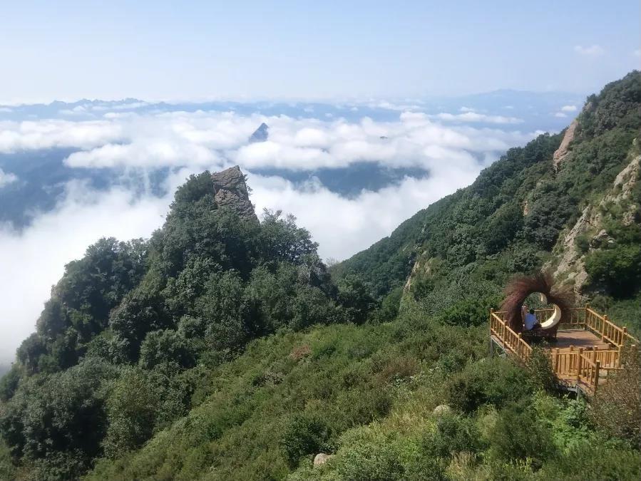青山缭绕升云雾,美景只在野三坡!  第6张